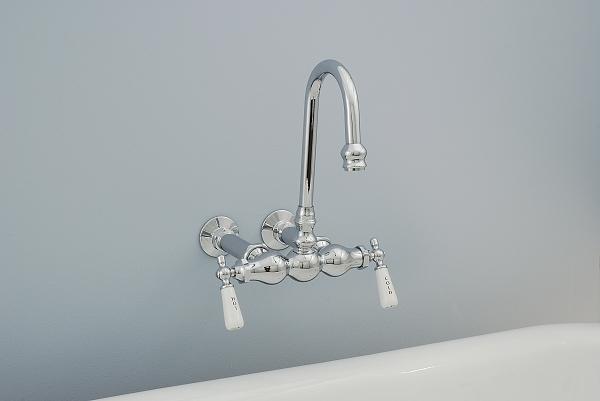 Wall Mount Gooseneck Tub Faucet