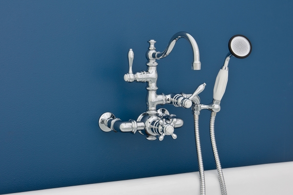 Thermostatic Wall Mount Faucet w/ Arch Spout