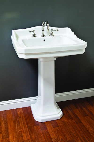 bathroom sinks pedestal porcelain deco pedestal sink w backsplash