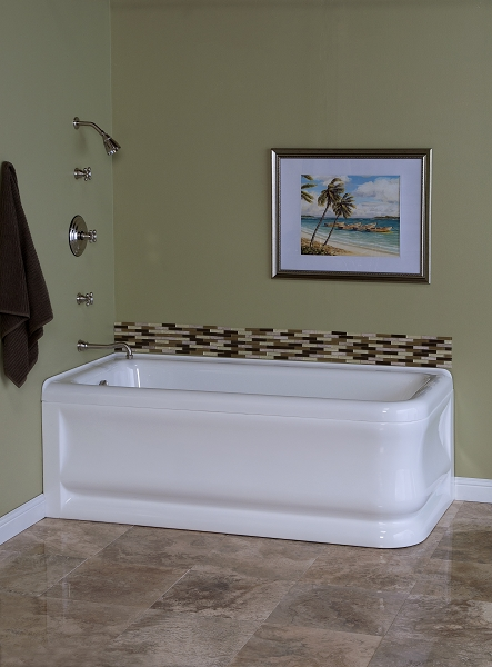The Cypress 70 Inch Acrylic Corner Tub w/ Left-Hand Drain